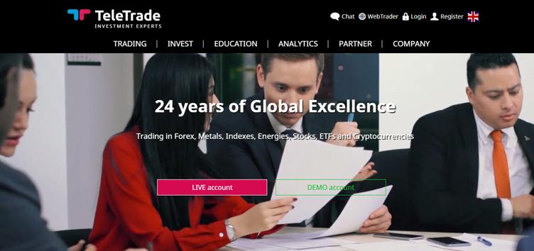 Recensione del broker TeleTrade - Conoscere i fatti, commerciare con fiducia