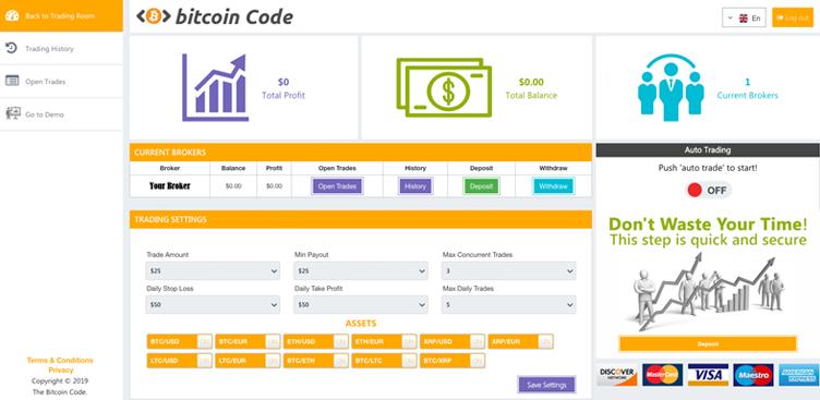 Fare trading con Bitcoin Code