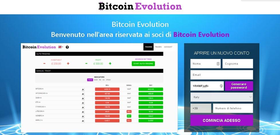 Bitcoin Evolution Recensione e Opinioni