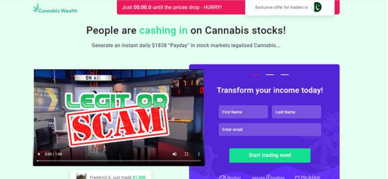 Cannabis Wealth è tutto ma non una truffa
