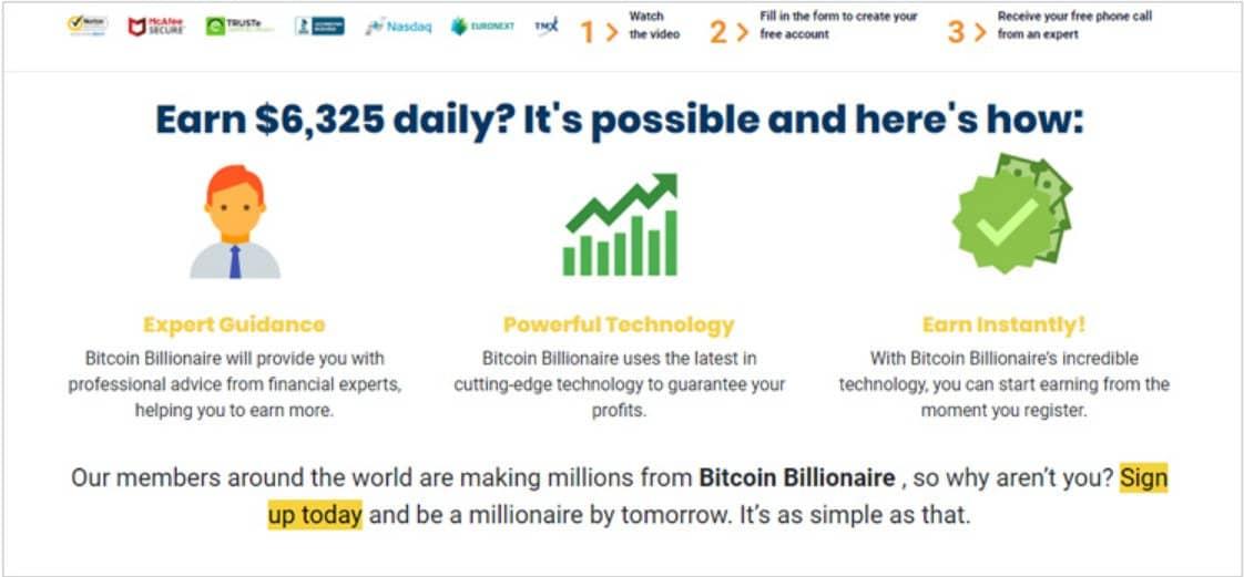 Come funziona la piattaforma di trading Bitcoin Billionaire