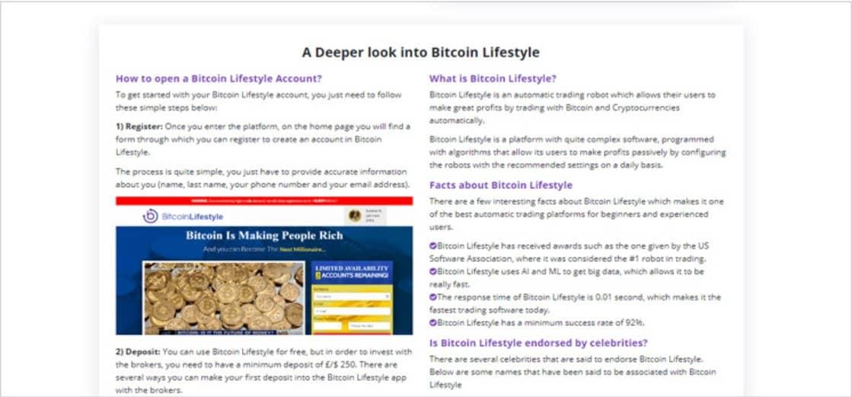 Cos'è Bitcoin Lifestyle