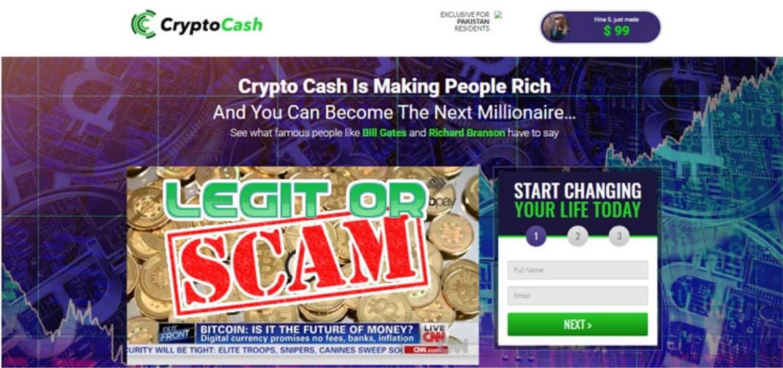 Crypto Cash È una truffa
