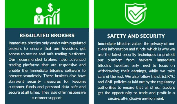 Immediate Bitcoins safety