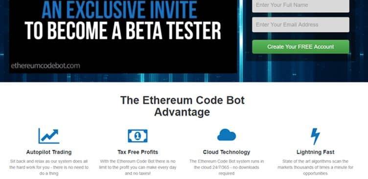 La prova dell'account demo di The Ethereum Code