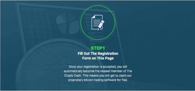 Registrazione facile su Crypto Cash