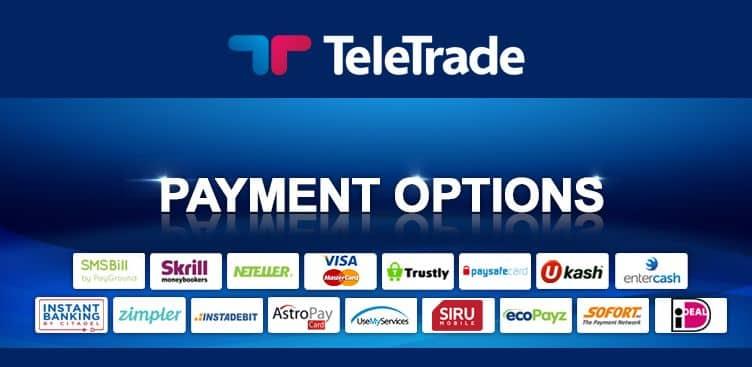 Teletrade Metodi di pagamento