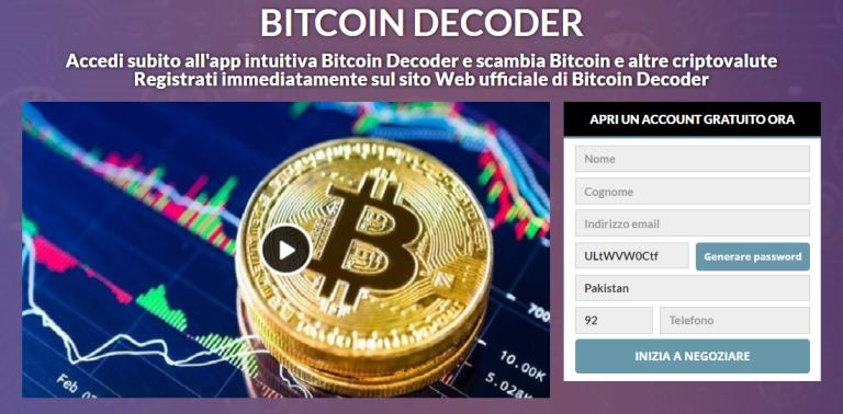 Bitcoin Decoder Review 2021: legittimo o truffa? Questa app funziona davvero?